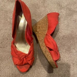 H&M coral wedges - size 7
